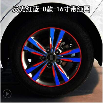 Red blueee Plated Brightly 16 Inch Wheels Rims Sticker for Hyundai Elantra BA041A  (color Name  Powder)