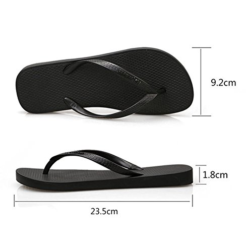 1 Sandals Comfortable 35 Height Rubber Black Flops Slipper Black Breathable 8Cm Women Flip Heel 17WqRAnz7g