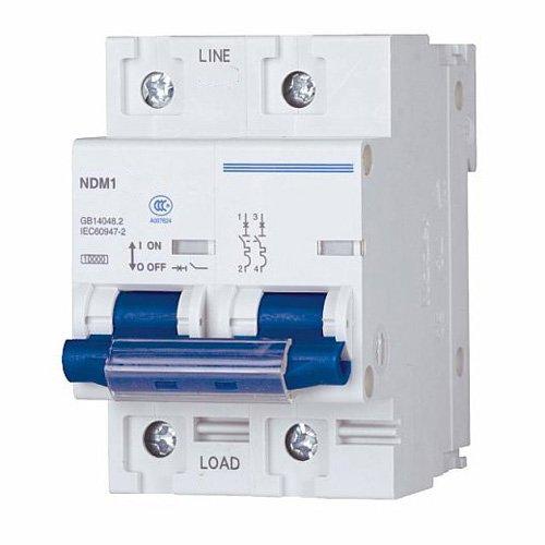 ASI NDM1-125C125-2 DIN Rail Mount High Current Circuit Breaker, UL 1077 Supplemental Protection, 2 Pole, 125 amp, 240/480V Nader