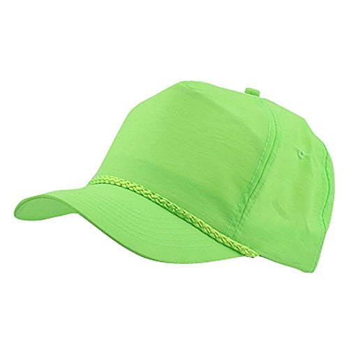 Nylon Crinkle Golf Cap - Neon Green (Cameo Hat)