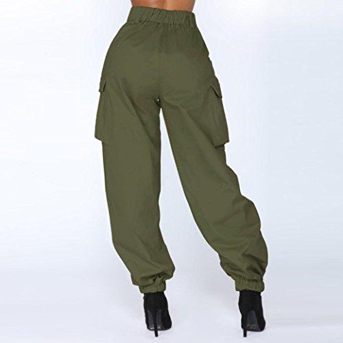 0eac56891c36 iYBUIA Summer Women High Waist Harem Pants Elastic Waist Stripe Casual Pants