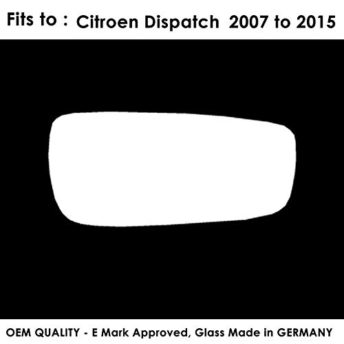 Twin Glass Version Mirror Right Hand Side Door Mirror Glass Convex For CITR-Dispatch Year 2007 To 2015
