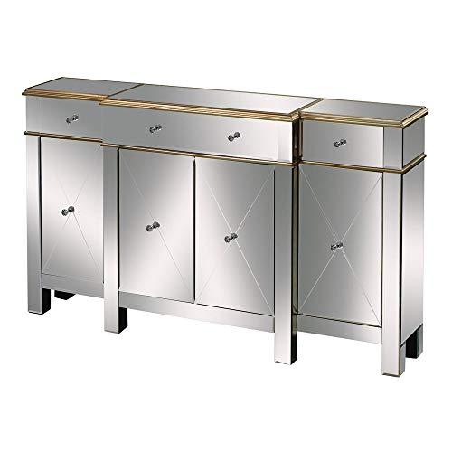 - Sterling 6043619 Bordeaux Contemporary Medium Density Fiberboard Buffet Server, 37-Inch, Mirrored Glass
