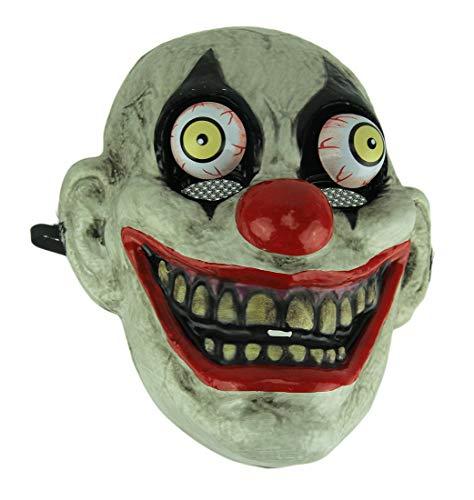Black Eye Old Looking Creepy Googly Eyed Clown Mask ()