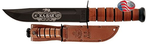 Ka-Bar Knives 120th Anniversary U.S. ARMY Engraved Knife, Black, NSN N, 9190 by Ka-Bar