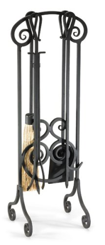 Pilgrim Home and Hearth 19003 Napa Forge Antique Scroll Fireplace Tool Set, Brushed Bronze