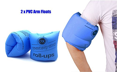 Topsung Inflatable Arm Bands Floatation Water Wings Swimming Arm Floatie for Children and Adults