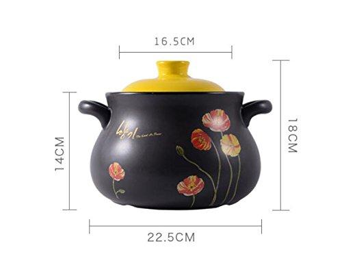 Gjhh Cazuela de Sopa Cazuela Cazuela de cerámica Resistente al Calor Gachas de Avena Cocina Congee Cocina de arroz Fideos...