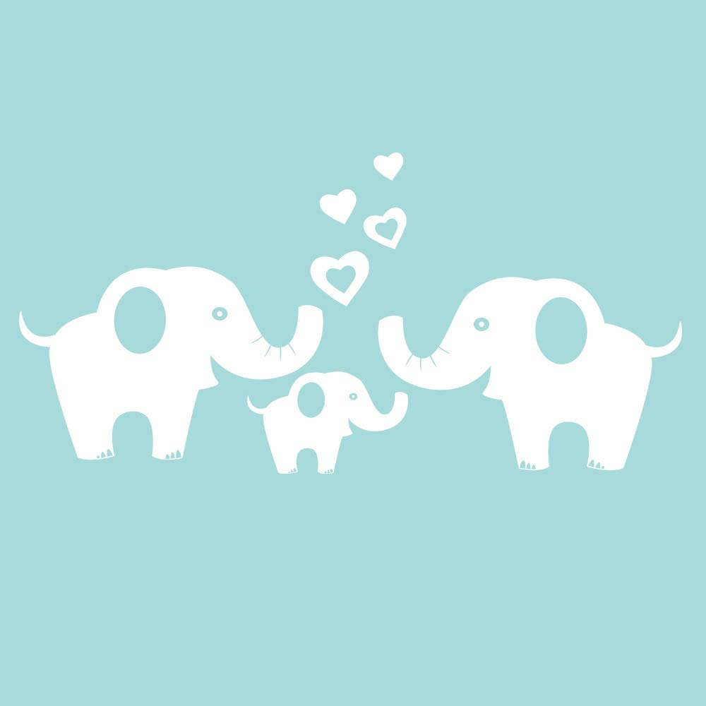 Amazon.com: ANBER Elephant Family Wall Decal Removable Vinyl Wall ...