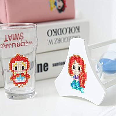 UNIKbrush DIY Diamond Painting Kits for Kids Sticker Paint Cartoon Cute Kits Arts Crafts Kits for Children Beginner Adults Interaction Creative Gift (Girls): Arts, Crafts & Sewing