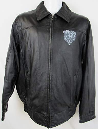 G-III Sports Chicago Bears Mens Size Medium Full Zip Embroidered Leather Jacket ABEA 143 ()