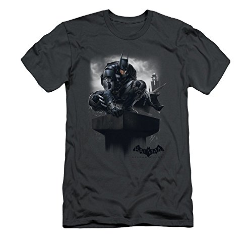 Batman: Arkham Knight Video Game Perched Adult Slim T-Shirt Tee