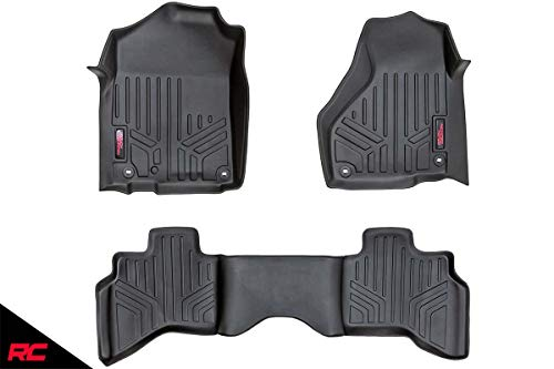 Rough Country Floor Liners (fits) 2002-2008 RAM Truck 1500 Quad Cab 1st 2nd Row Weather Rugged Floor Mats M-30212