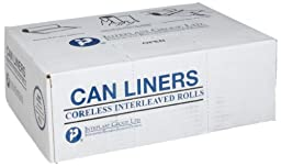 Inteplast Group S303708N HDPE 30 Gallon Can Liner, 0.31 Mil, Star Seal, 37\