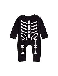Veepola Baby Clothes,Halloween Toddler Baby Long Sleeves Skull Print Romper Infant Jumpsuit