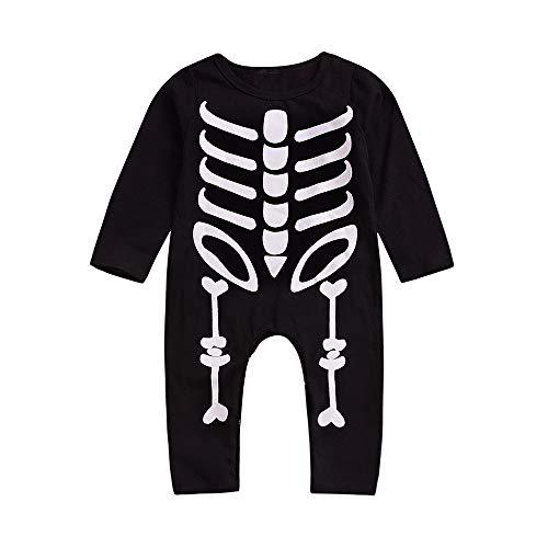 Newborn Halloween Skull Print Jumpsuit,Jchen(TM) Infant Baby Girls Boys Skull Print Romper Halloween Playsuit for 0-24 Months (Age: 18-24 Months) -
