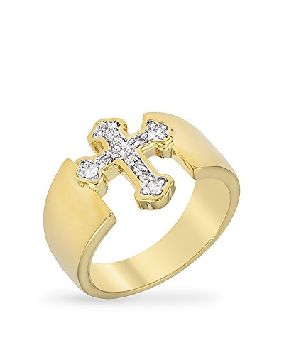 KB Collection Two-tone Finish Cross Ring Size 7 Two Tone Cross Ring