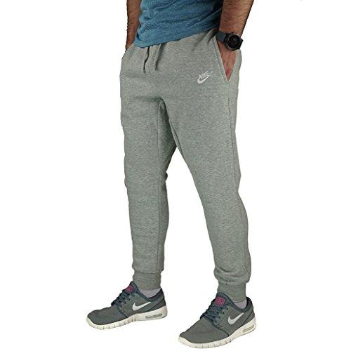 Nike Sportswear Men's Joggers,Dark Grey Heather/White,X-Large