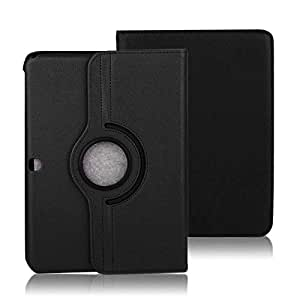 For Samsung Galaxy Tab 4 10.1 Inch SM-T530 Tablet Rotating 360 Degree Case Cover Black