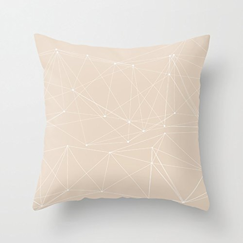 Throw Pillow Covers LIGHT LINES ENSEMBLE III-A for Everyday 1818In,Pillow Case LIGHT LINES ENSEMBLE III-A Cushion with 18 x 18In for Home Decoration Sofa And Chairs ()