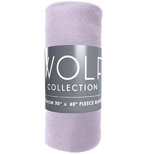 Wolf Cozy Premium Super Soft 30 x 40 Fleece Blanket for Strollers, Car Seat, Kids Bed & Pets - Stroller Blanket Fleece Seat Car