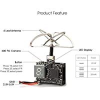 ARRIS Eachine TX03 Super Mini 0/25mW/50mW/200mW Switchable AIO 5.8G 72CH VTX 600TVL 1/3 Cmos Micro FPV Camera for Tiny Whoop, Blade Inductrix, etc