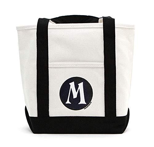 Monogram Canvas Tote Bag, Great Shoulder Bag Gift for Moms, Teachers, and Nurses (M) -