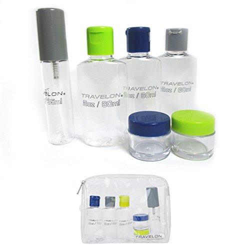 Travel Accessories Travelon 1-Quart Zip Bag with Plastic Bottles (Bag 1 Quart)