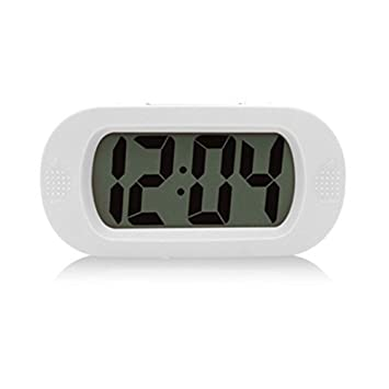 mi ji Pantalla Grande Reloj Despertador Digital portatil de Viaje Despertador con Gran Pantalla LCD de