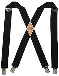 Dickies Men\'s 1-1/2 Solid Straight Clip Suspender,Black,