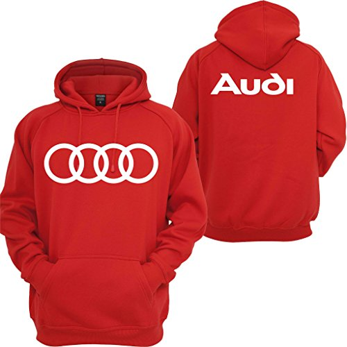 Audi Hoodie Sport Cars JDM dope Audi TT Quattro Turbo Illest Boost Sweatshirt Red