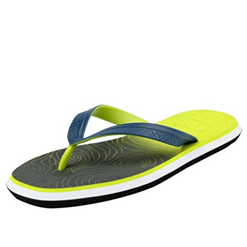 Sandals Men'S Shoes Baymate Beach Pool Green Change Gradual Flip Flop Pattern 40nRxnfSd