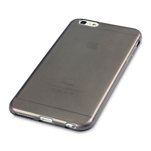 Terrapin Premium Schutzhülle TPU Gel Schutzhülle Für 14cm Apple iPhone 6Plus/6S Plus–Smoke Schwarz