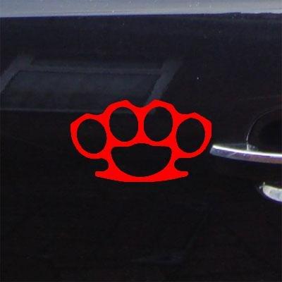 ADHESIVE VINYL HOME DECOR LAPTOP BRASS KNUCKLES ART DIE CUT CAR DECAL CAR VINYL MACBOOK WINDOW RED WALL HELMET STREET FIGHTER