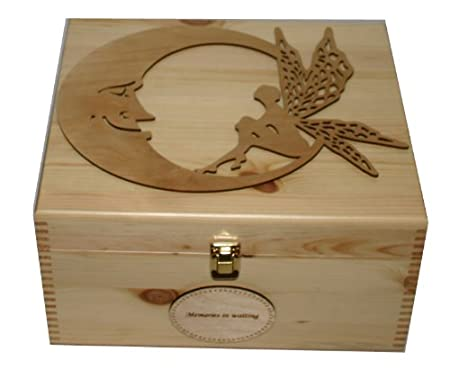 Personalised Natural Pine Wooden Keepsake Memory Box Decorative Beauteous Decorative Keepsake Memory Boxes