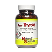 Natural Sources - Raw Thyroid, 90 capsules