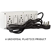 Hi-PLASST (3+3) Extension Board Multi Outlet Electrical Switch Board with 3 Anchor Sockets(5A) and 3 Anchor Switches(5A)-4Mtr Long Wire Power Strip