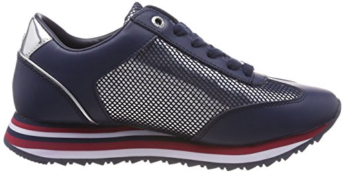 tommy Femme Bleu 406 Hilfiger Corporate Basses Navy Tommy Sneakers Flag Sneaker 8x1vqYB
