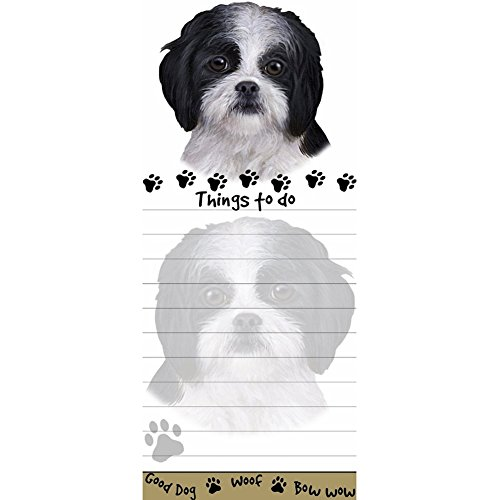 Black And White Shih Tzu Puppy Cut Notepad