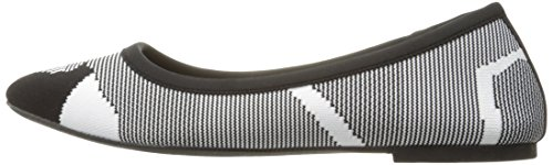 Pictures of Skechers Women's Cleo Wham Flat, Black/White, 8.5 M US 5