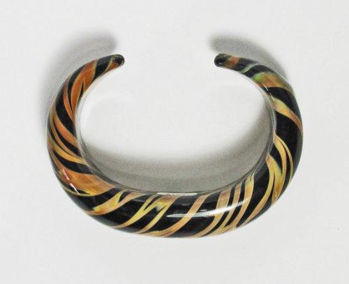 Handmade Flameworked Tiger Glass bracelet by Kevin O'Grady by Kevin O'Grady