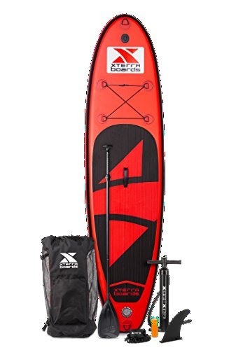 XTERRA Boards Inflatable 10' Stand Up Paddle Board Premium SUP Bundle | Includes Board (6' Thick),...