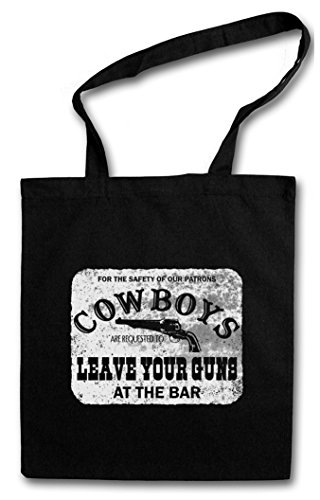 COWBOYS SAFETY SIGN HIPSTER BAG – Cow-boy Cowgirl USA US Confederate Western Country Fun Comedy Rodeo Native American Desperado Outlaw Frontier CSA Fun