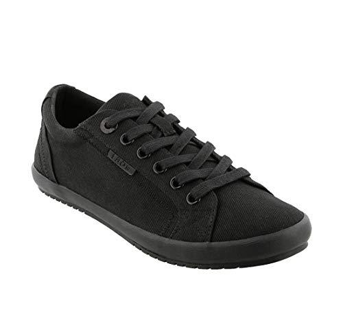 Taos Footwear Women's Star Black On Black Twill Sneaker 7.5 M US