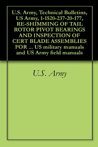 Bulletins, US Army, 1-1520-237-20-177, RE-SHIMMING OF TAIL ROTOR PIVOT BEARINGS AND INSPECTION OF CERT BLADE ASSEMBLIES FOR SPECIFIED ... military manuals and US Army field manuals ()