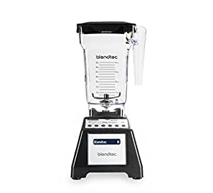 Blendtec Total Classic Original Blender with FourSide Jar (64 oz), Commercial-Grade Power, 6 Pre-programmed Cycles, 10-speeds, Black