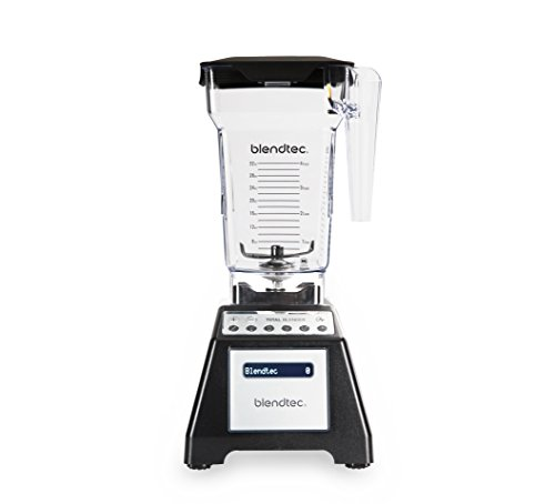Blendtec Total Classic Original Blender with FourSide Jar (75 oz), Professional-Grade Power, 6 Pre-programmed Cycles, 10-speeds, Black