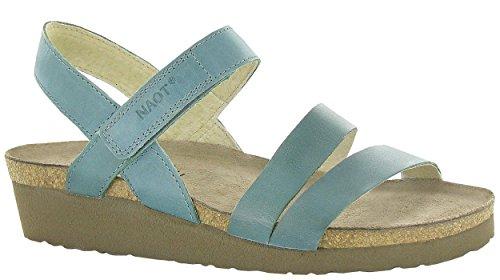 Women's Green Kayla Sea Leather Wedge Sandal Naot pdqx6Cq