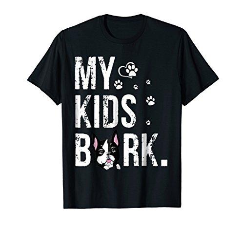 Bark Mens T-shirt - My Kids Bark T-shirt Dog Mom T-shirt