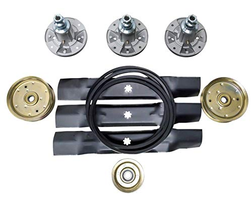 - proven part Deck Replacement Kit Spindles Belt Idlers Pulleys Blades GY20454 GY21098 GX20571